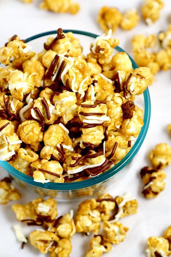 Homemade Zebra Caramel Popcorn The Gracious Wife