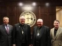 Curtis Martin, Archbishop Naumann, Bishop Morlino and Jonathan Reyes.