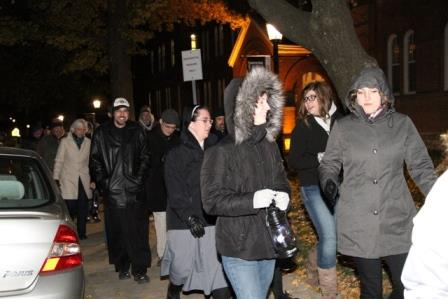 November 11: Benedictine College students processed with lanterns to the Benedictine sisters of Mount St. Scholastica to celebrate their 150th anniversary.