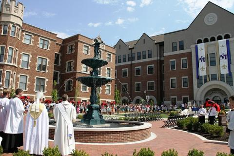 September 8: On the feast of the Nativity of Mary, Abbot James Albers consecrated Benedictine College to the Blessed Virgin Mary.