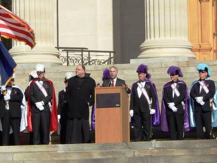 Meanwhile, back in Kansas, Benedictine College theology's Father Meinrad Miller opened and closed Topeka's March for Life at the State House.