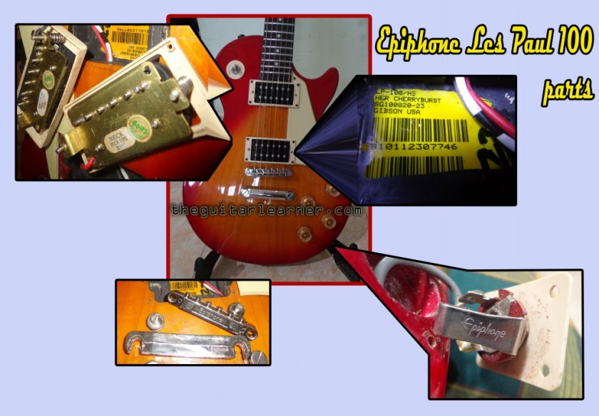 Guitar Authenticity Check on Epiphone lespaul 100 guitar parts