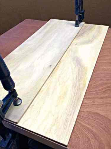 clamp plywood pieces together