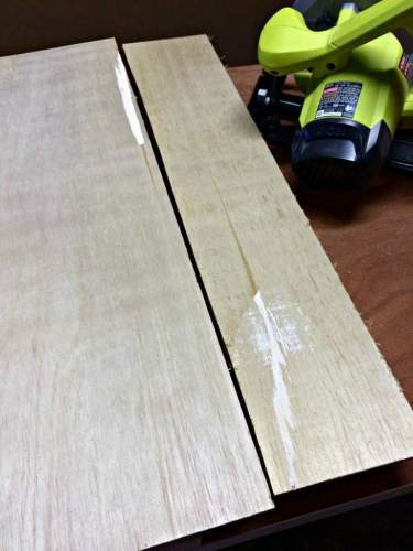 trim extra plywood after