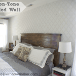 tone on tone stenciled wall