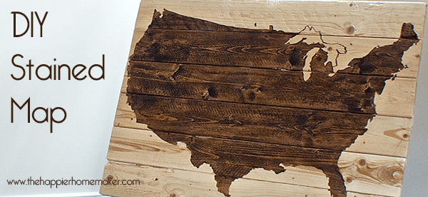 diy stained us map