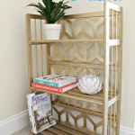 ilded geometric bookcase side