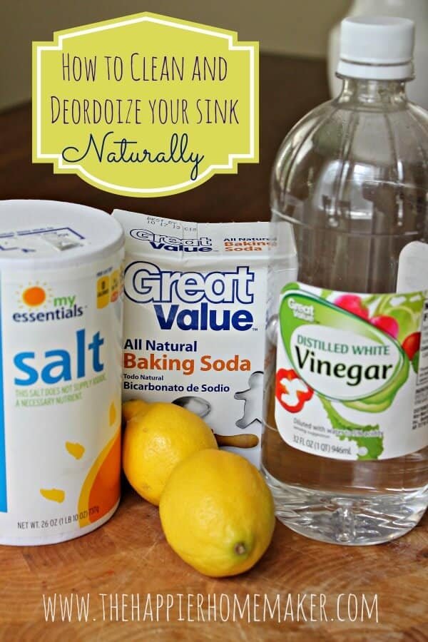 Clean and Deodorize Your Sink Naturally