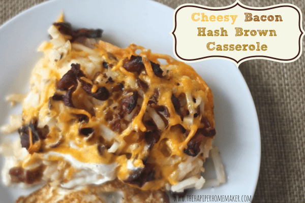 cheesy bacon hash brown casserole