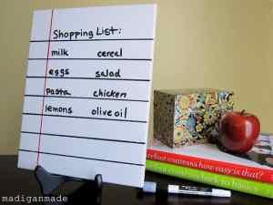loose leaf dry erase memo from tile 13