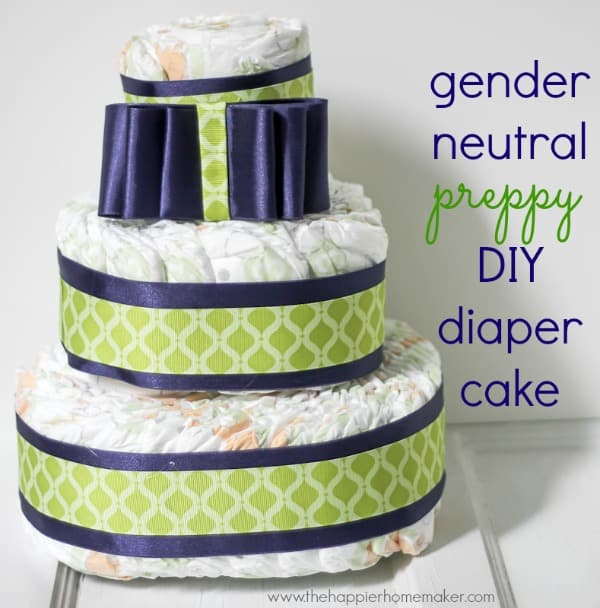 diaper cake easy preppy