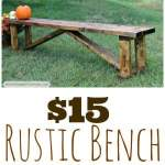 cheap rustic bench thumbnail