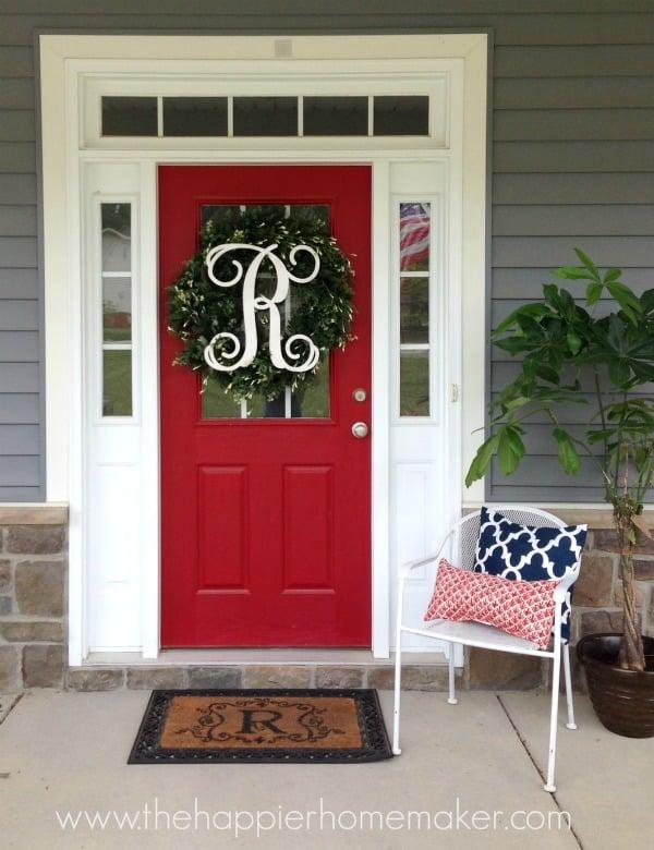 balsalm hill wreath front door