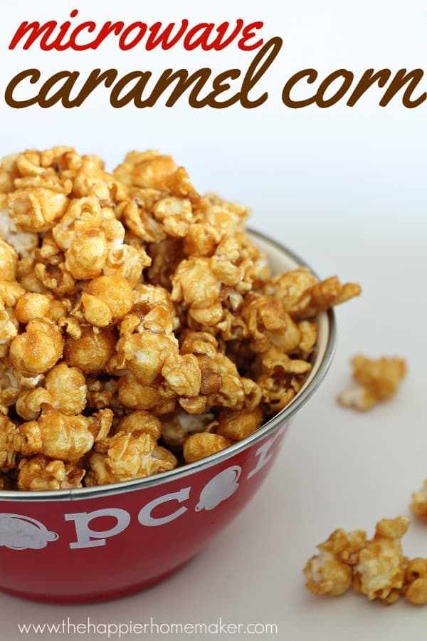 easy microwave caramel corn recipe