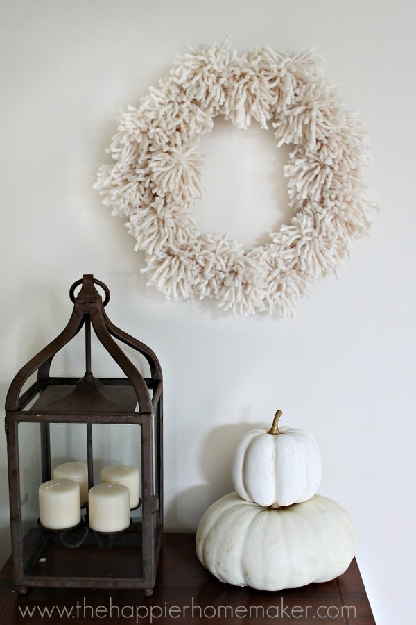 how to make a pompom wreath