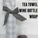 DIY tea towel wine bottle wrap