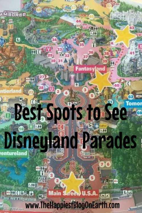 My favorite Disneyland parade viewing spots.