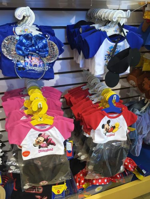 Diamond Celebration and Disneyland Resort outfits, complete with Mickey ears for your Build-A-Bear.