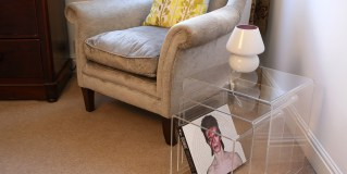 Three clearly the magic number for acrylic nesting tables