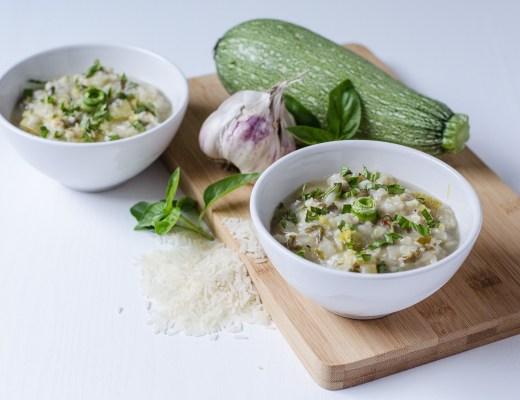 Zucchini, Basil, Basmati Soup