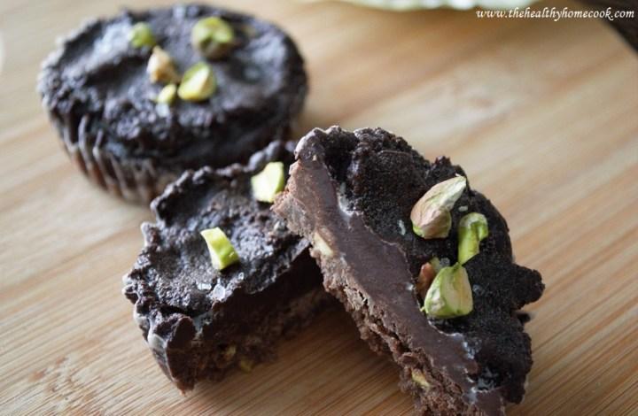Pistachio & Sea Salt Chocolate Tart