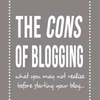 The Cons of Blogging {Blogging As A Business}
