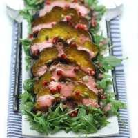 Maple Roasted Acorn Squash Salad with Pomegranate Vinaigrette
