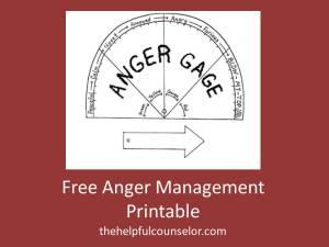 Free Anger Management Printable