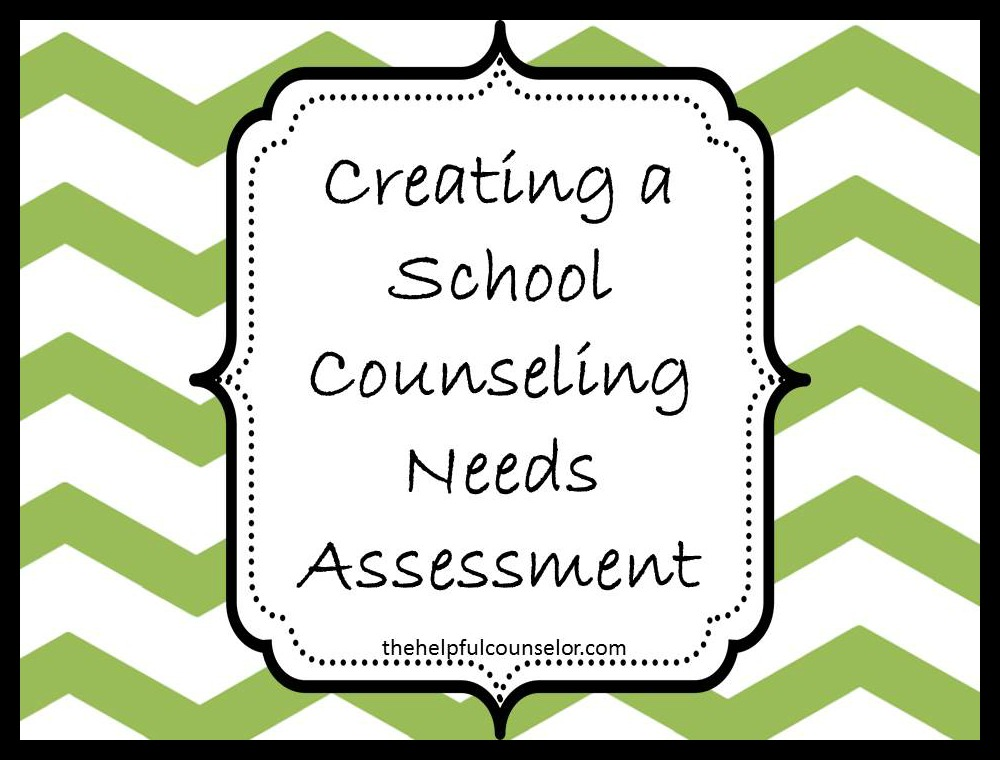 School Counseling Needs Assessment Blog Post