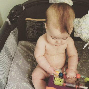 the hess station 7 month baby update