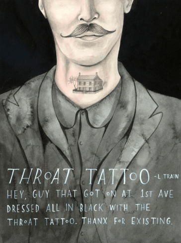 Sophie Blackall throat tattoo