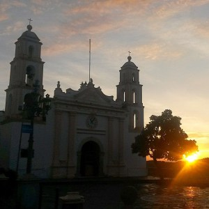Sunrise from the Parroquia de Guadalupe  Taxco Mexico thehikinglife