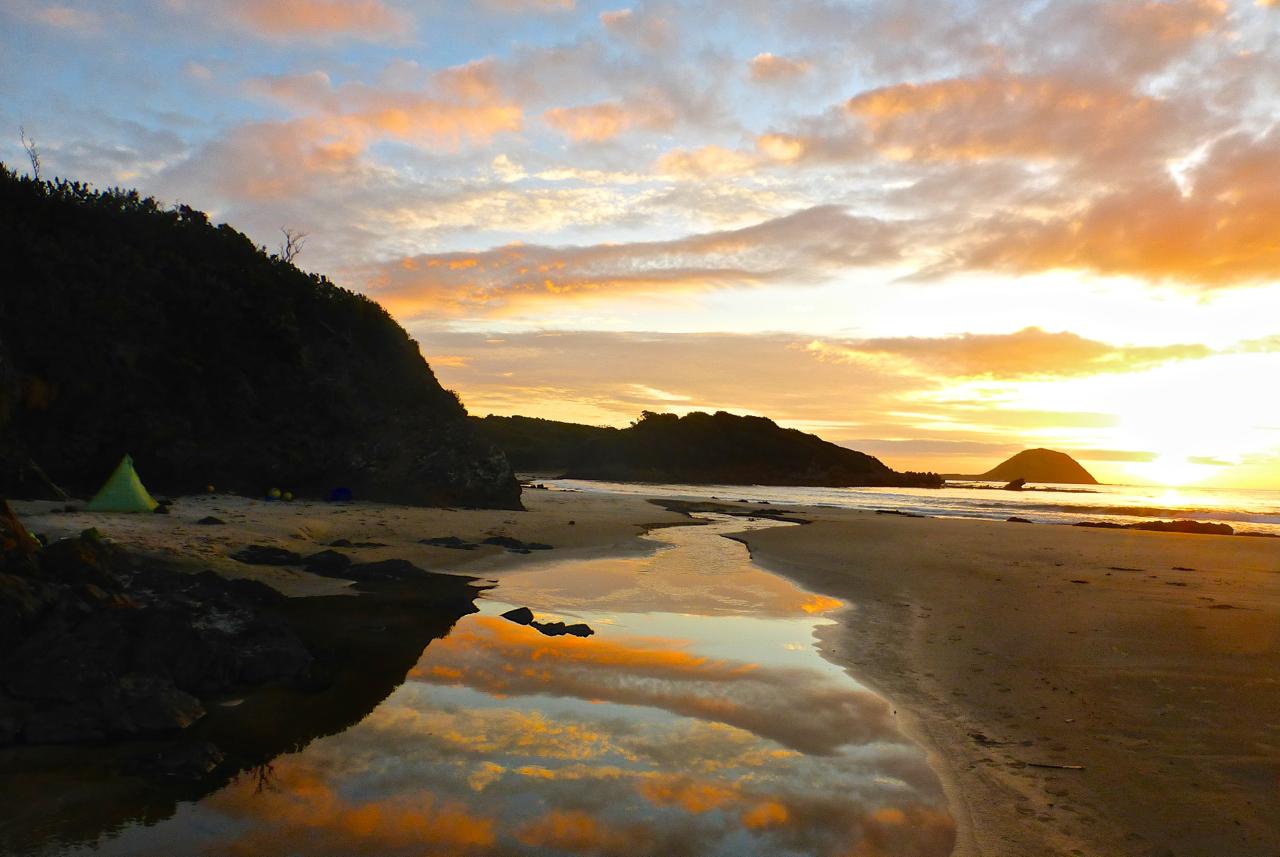 Sunset at Evans Creek   SW Tasmania Traverse, 2016