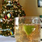 Holiday Pomegranate Lime Spritzer