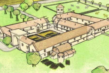 artists impression of roman villa