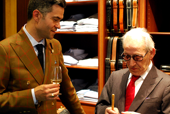 With master tailor Francesco Pecoraro