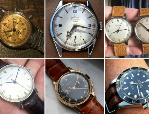 A selection of watches featured on Instagram. (All watches and photos not my own, credited below).
