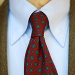 Italian style with an E.G. Cappelli wool challis tie.