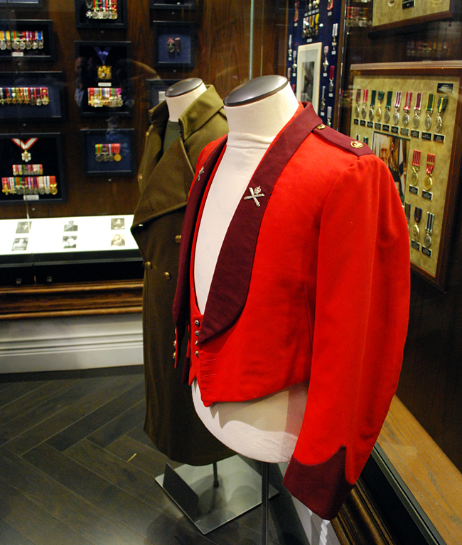 A mess kit from 1930 and a Greatcoat from 1940, both featured in the book.