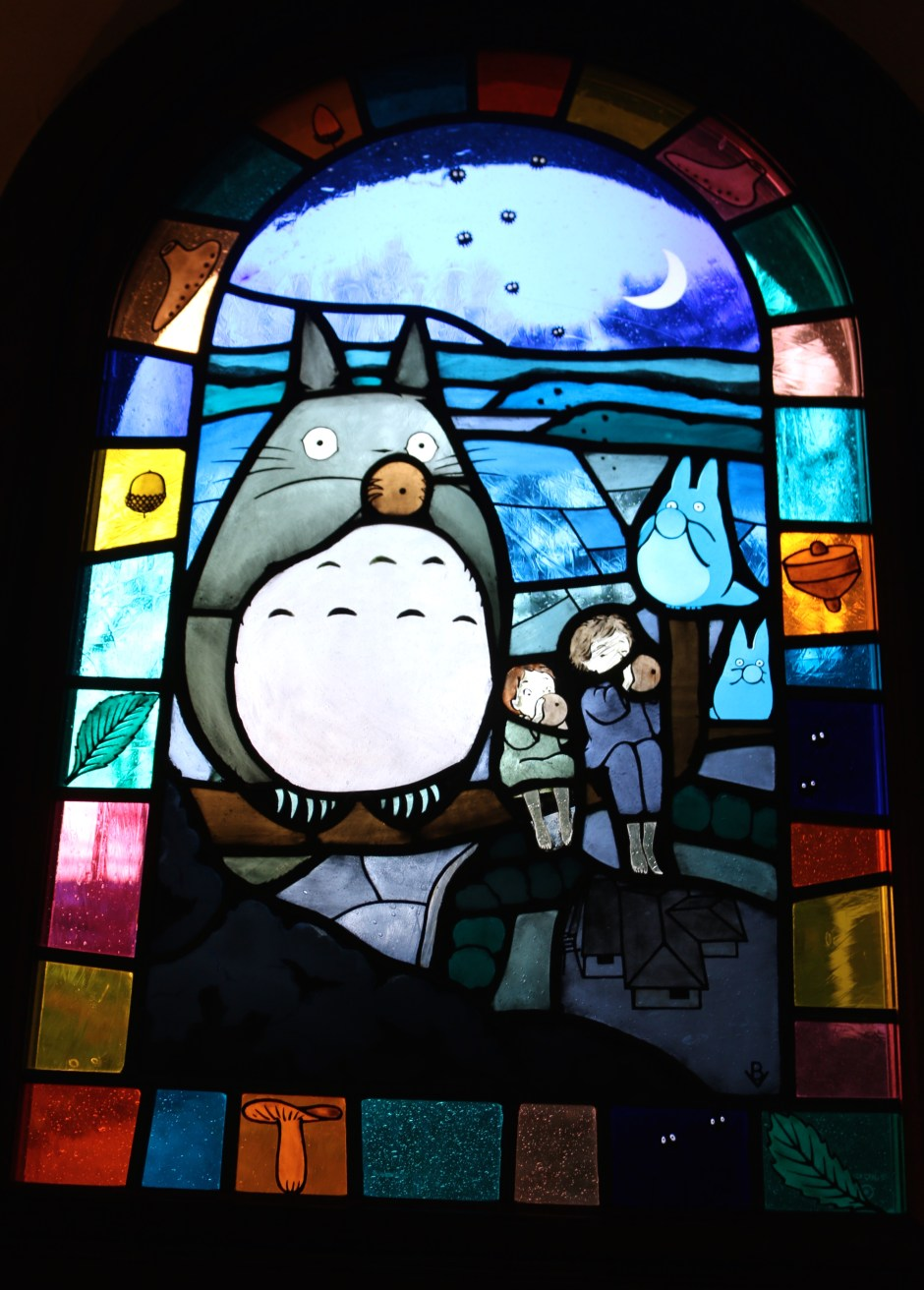 Stained glass Totoro