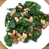 Kale, White Bean, and Bacon Salad