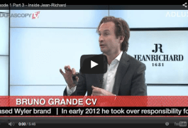 Video: Interview with JEANRICHARD CEO Bruno Grande