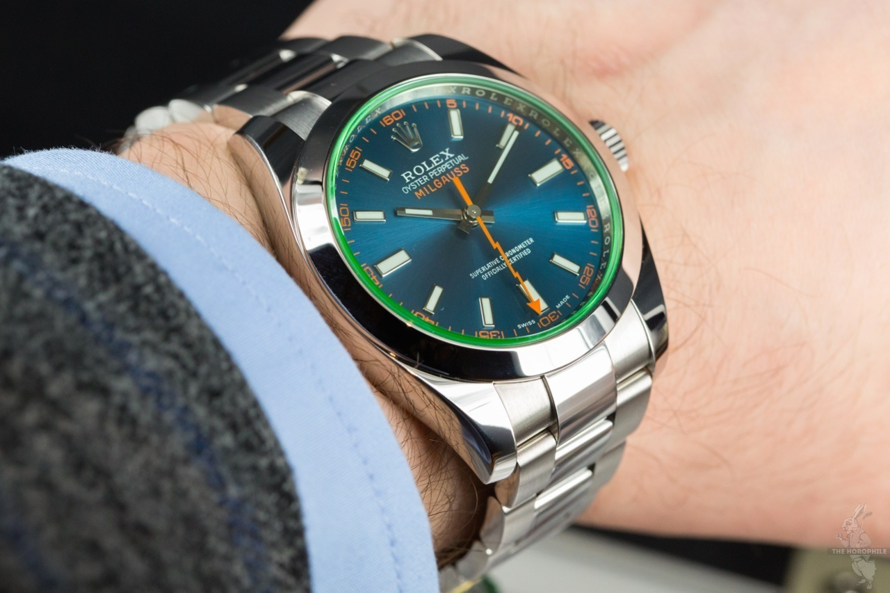 Rolex Milgauss Blue 116400GV , The Horophile