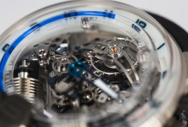 Deep Inside the HYT H2 Titanium and White Gold Blue