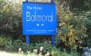 This is the Sign to The Hotel Balmoral