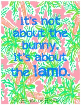 It's not about the bunny, it's about the lamb