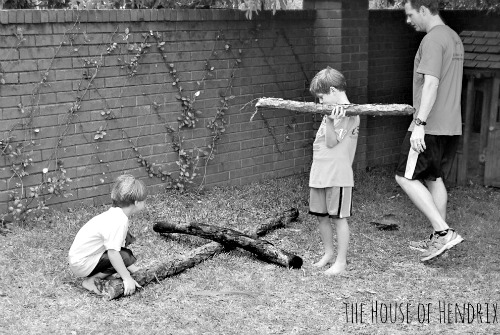 Build a cross out of branches