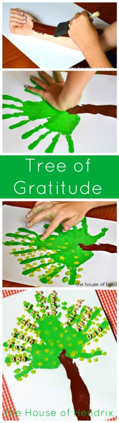 A Gratitude Tree - Includes a character-building lesson for each step. I love when a craft strengthens not just fine motor skills but the heart as well. |the House of Hendrix