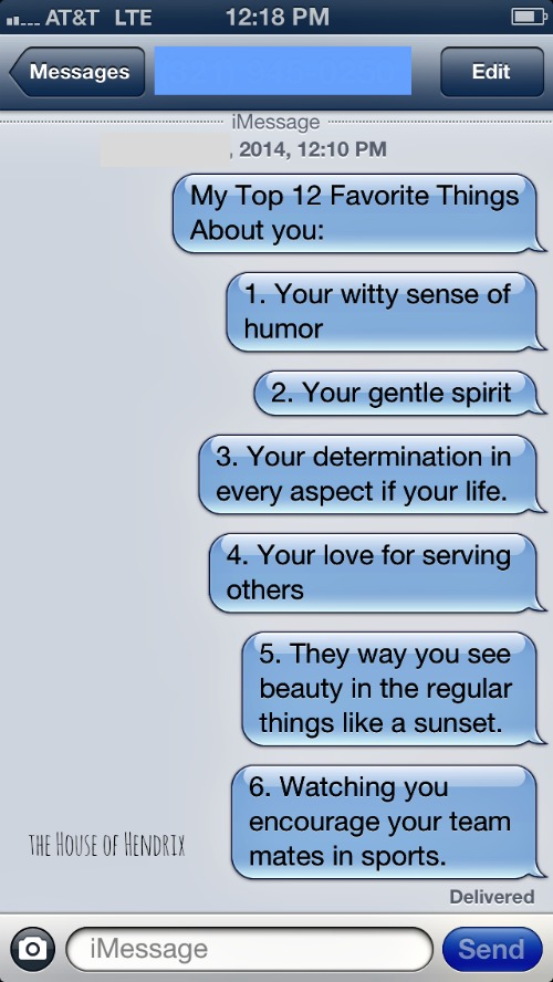 Messages To Fare Her Feel Special