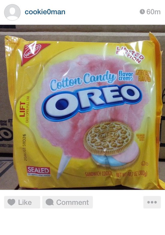 Nabisco Limited Edition Cotton Candy Oreo Cookies